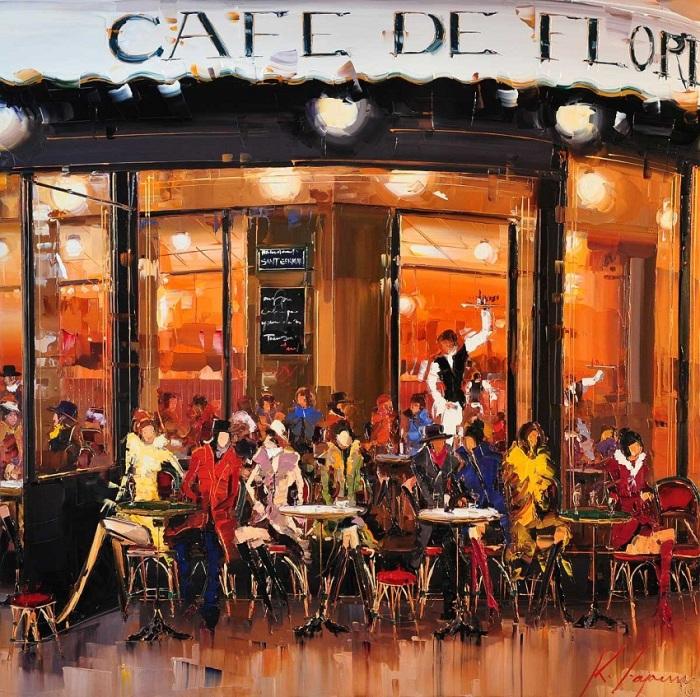 Кафе. Автор: Kal Gajoum.