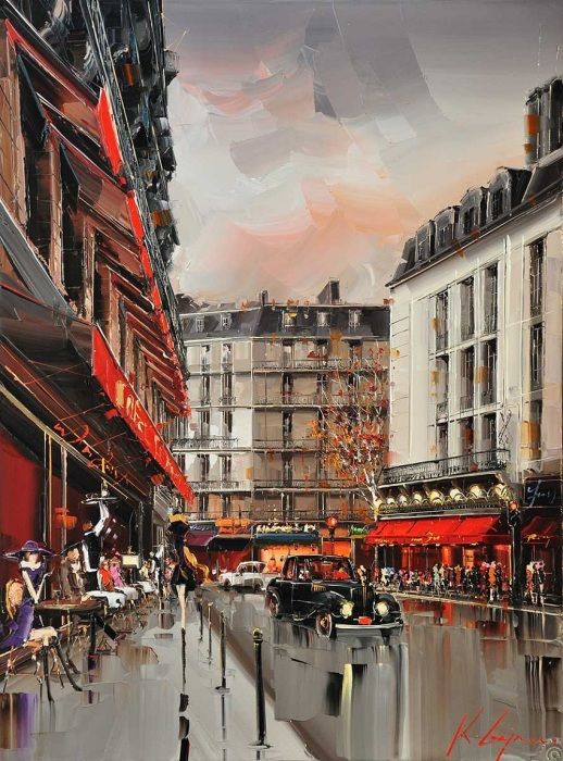 На улицах Парижа. Хрустальный хаос серых зданий... Автор: Kal Gajoum.