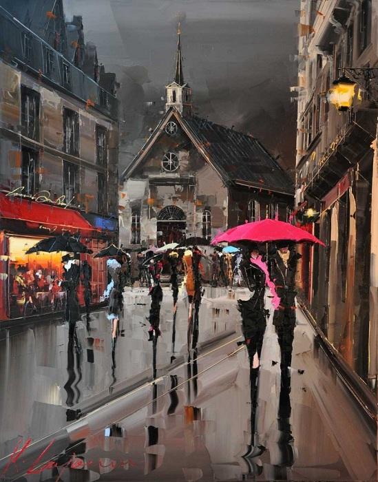 Влюблённые под зонтом. Автор: Kal Gajoum.