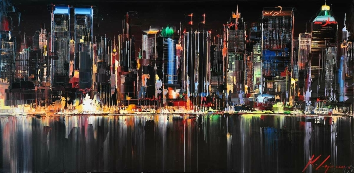 Огни большого города. Автор: Kal Gajoum.