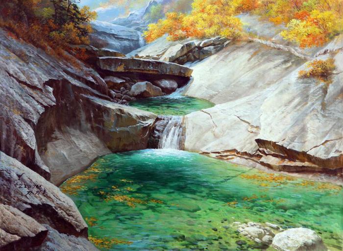 Горная река. Автор: Kang Jung Ho.