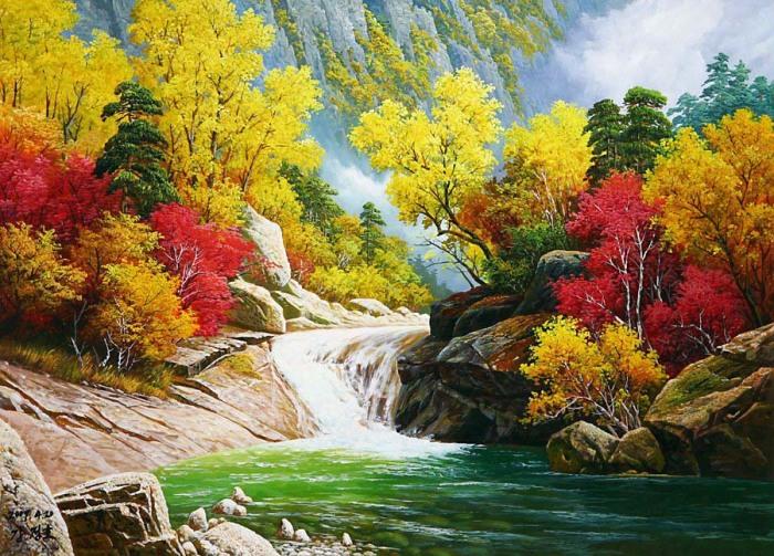 Живописная осень. Автор: Kang Jung Ho.