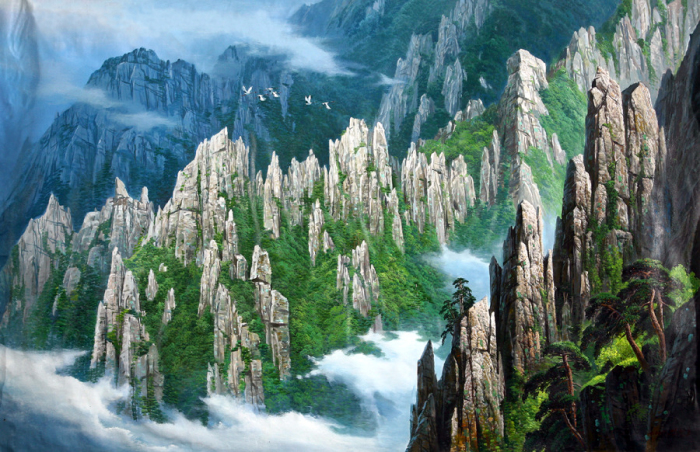 Туман в горах. Автор: Kang Jung Ho.