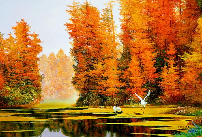 Корейский художник пишет реалистичные пейзажи, которые создают эффект присутствия