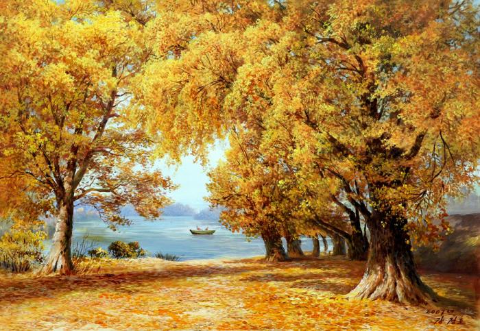 Осень золотая. Автор: Kang Jung Ho.