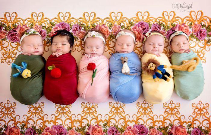 Очаровательные малышки в образах Диснеевских принцесс. Автор: Karen Marie.
