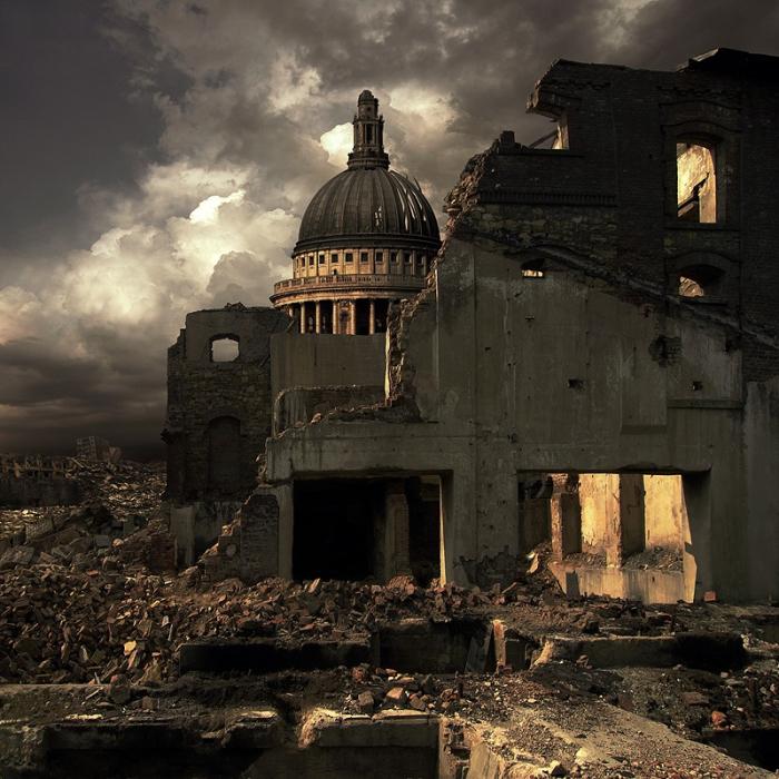 Город очищенный огнем.  Автор фотоиллюстрации: Karezoid Michal Karcz.