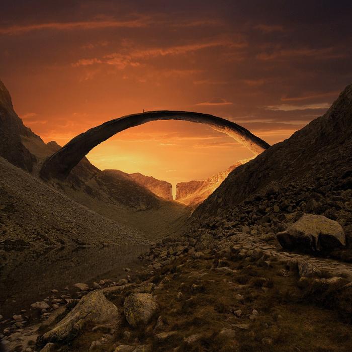 Проход Средиземья. Автор фотоиллюстрации: Karezoid Michal Karcz.
