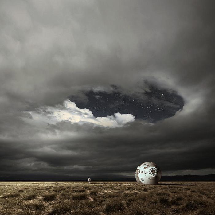 Под звездами.  Автор фотоиллюстрации: Karezoid Michal Karcz.