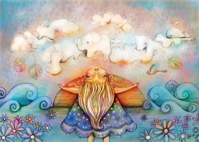 Причудливые облака и мечты. Автор: Karin Taylor.
