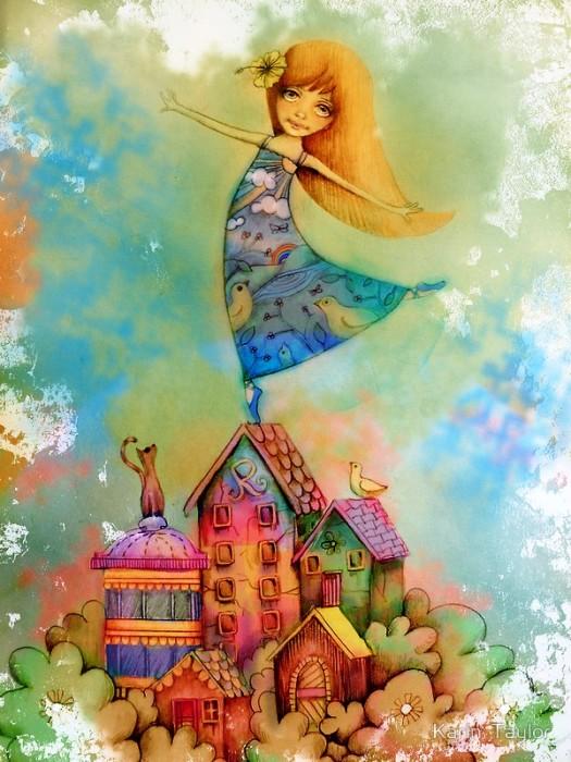 Танцы на крышах. Автор: Karin Taylor.