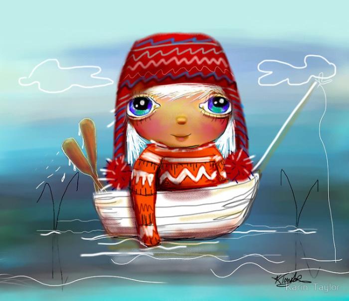 Приключения маленькой путешественницы. Автор: Karin Taylor.