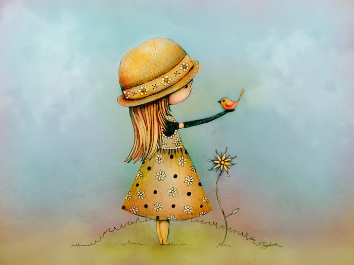 Птичка. Автор: Karin Taylor.