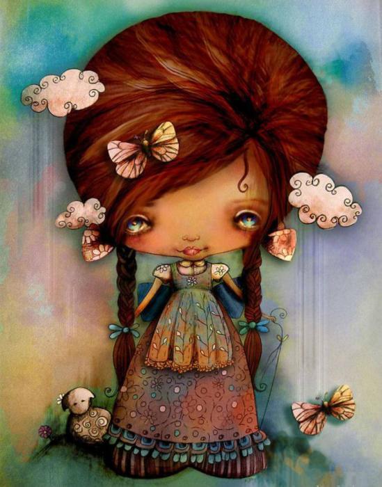Бабочка в волосах. Автор: Karin Taylor.