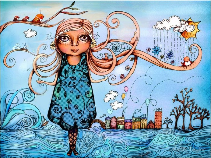 Девочка-весна. Автор: Karin Taylor.
