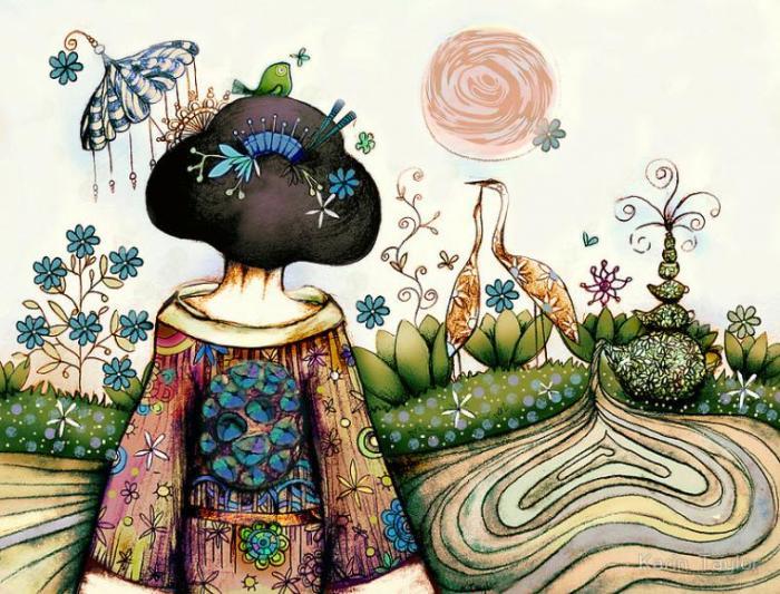 Японочка. Автор: Karin Taylor.