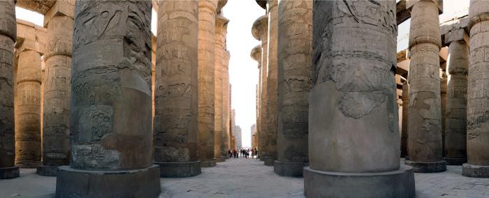 Гипостильный зал, гр. 1250 г. до н.э. (зал), 18-я и 19-я династии, Новое царство, Карнак.