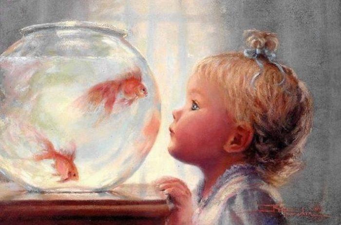 Золотая рыбка. Автор: Kathryn Andrews Fincher.