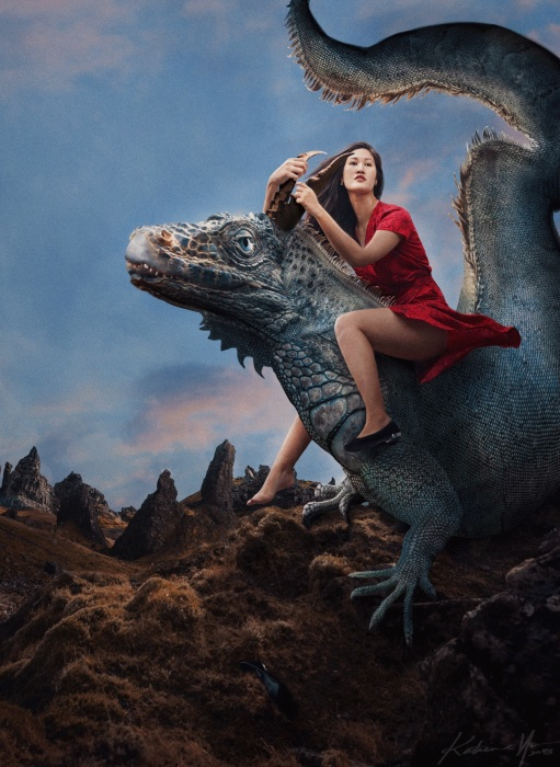 Верхом на драконе. Автор: Katrina Yu.