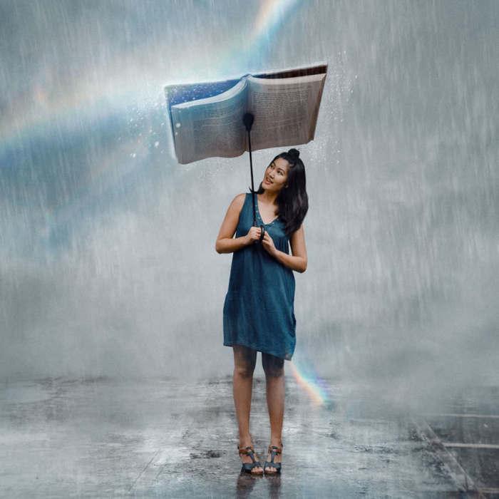 Лучший аккомпанемент в дождливый день. Автор: Katrina Yu.