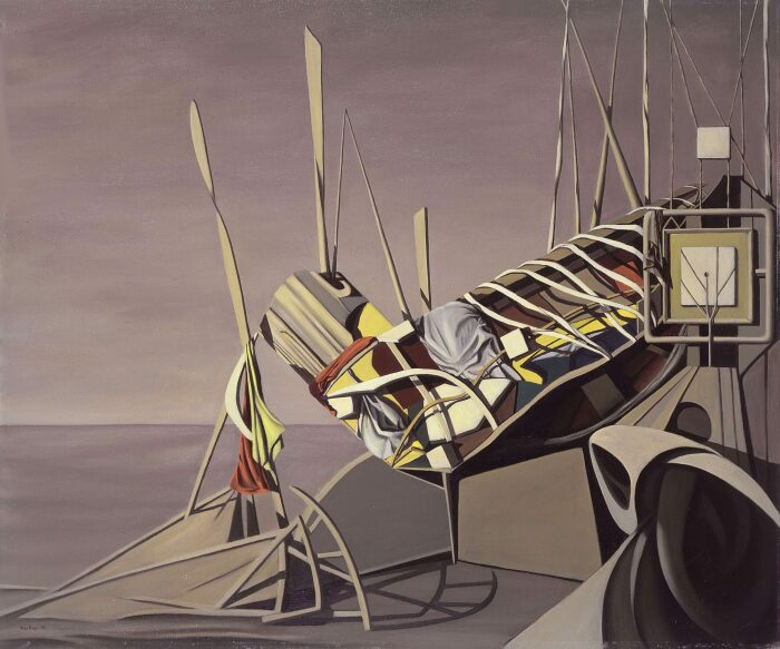 Скворцы (Караваны), Кей Сейдж, 1948 год. \ Фото: artmuseum.williams.edu.