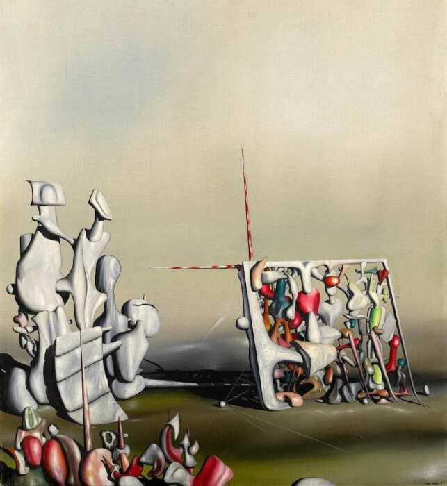 Там движение ещё не прекратилось, Ив Танги, 1945 год. \ Фото: pinterest.com.