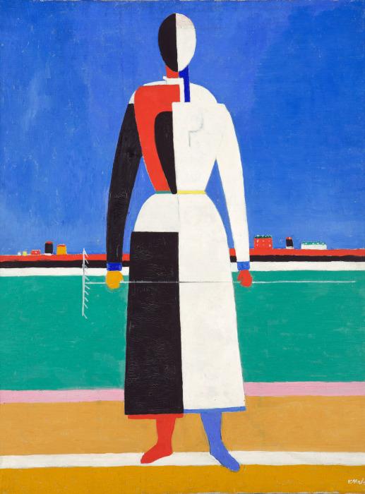 Женщина с граблями, Казимир Малевич. \ Фото: pinterest.com.