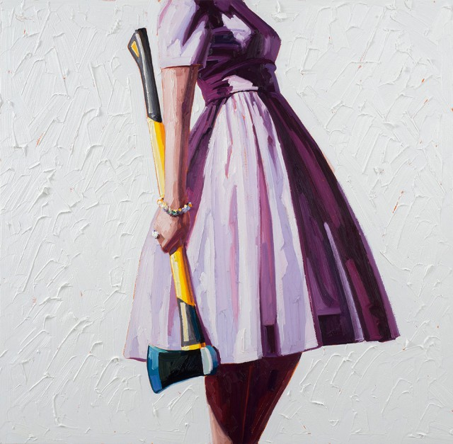 Шикарные платья и бытовые инструменты. Картины Келли Римтсен (Kelly Reemtsen).