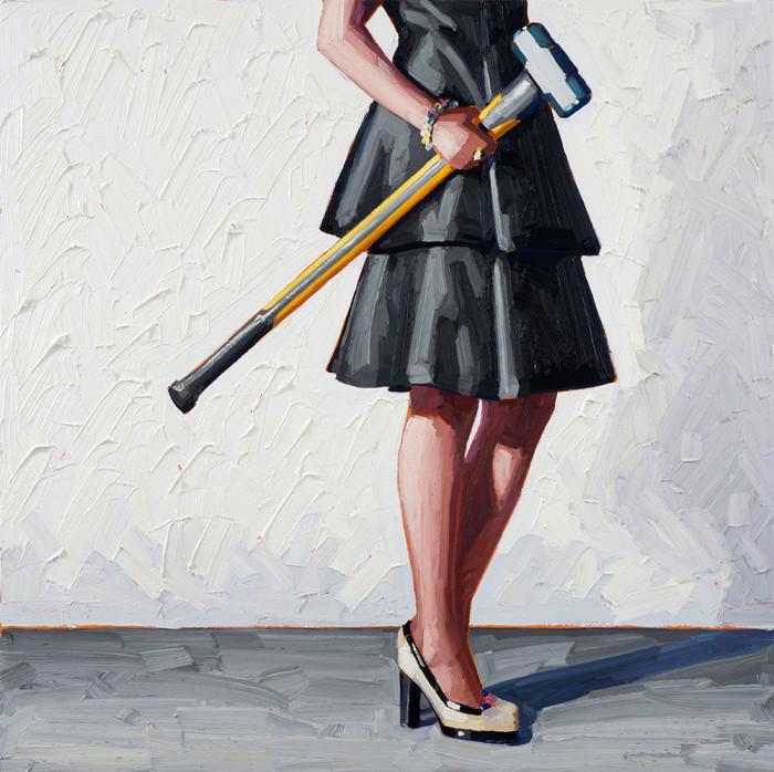 В своих работах, ей удалось совместить несовместимые между собой вещи - женственность и бытовые инструменты. Картины Келли Римтсен (Kelly Reemtsen).