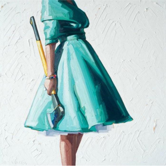 Девушка в бирюзовом платье. Картины Келли Римтсен (Kelly Reemtsen).