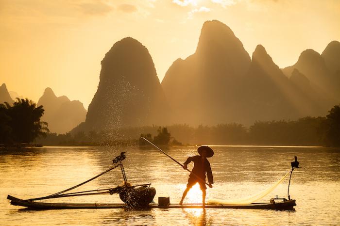 Золото заката, Китай. Автор работ: Кен Коскела (Ken Koskela).