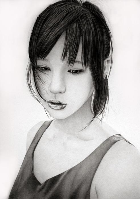 Маки Хорикита (Maki Horikita). Автор работ: художник-самоучка Кен Ли (Ken Lee).
