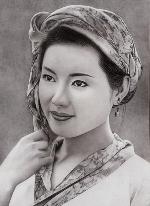 Азиатская леди (Asian Lady). Автор работ: художник-самоучка Кен Ли (Ken Lee).