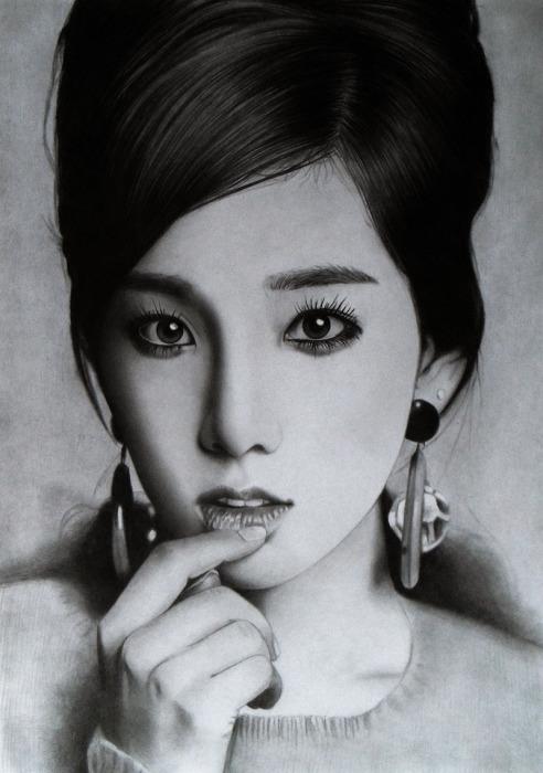Тайеон (Taeyeon). Автор работ: художник-самоучка Кен Ли (Ken Lee).