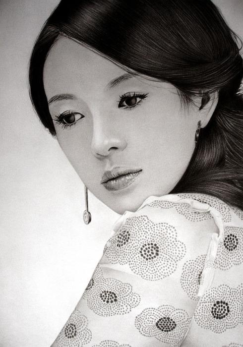 Чжан Цзыи - далеко (Zhang Ziyi - away). Автор работ: художник-самоучка Кен Ли (Ken Lee).