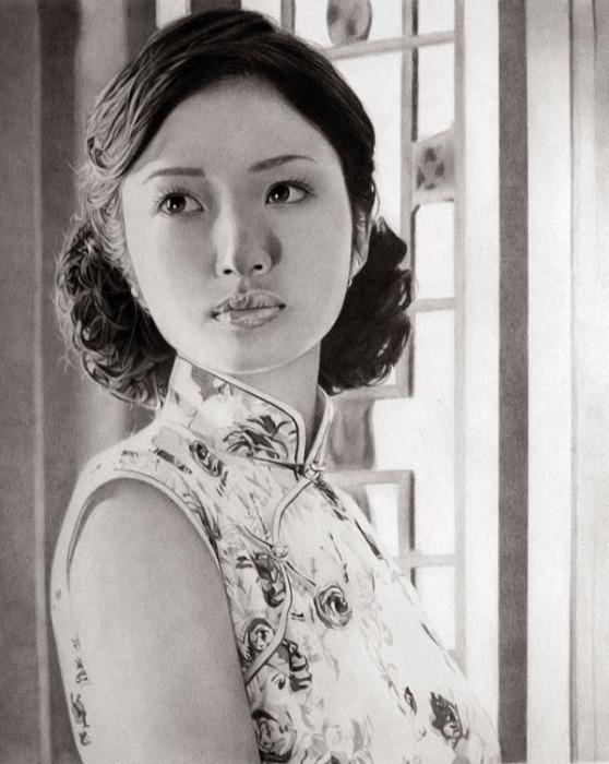 Восточная Айя Юто (Aya Ueto - Oriental). Автор работ: художник-самоучка Кен Ли (Ken Lee).