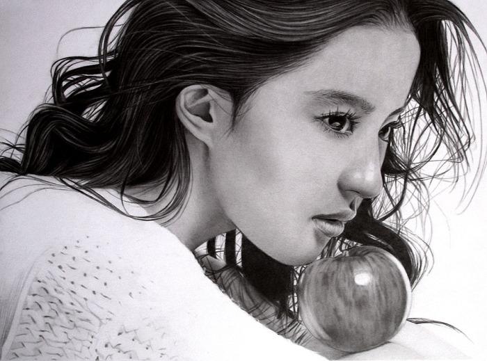 Кристалл Лю Ифэй (Crystal Liu Yifei). Автор работ: художник-самоучка Кен Ли (Ken Lee).