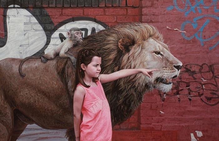 Гиперреалистичные рисунки животных и детей. Автор: Kevin Peterson.