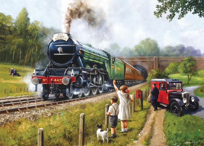 Встречая и провожая поезда. Автор: Kevin Walsh.