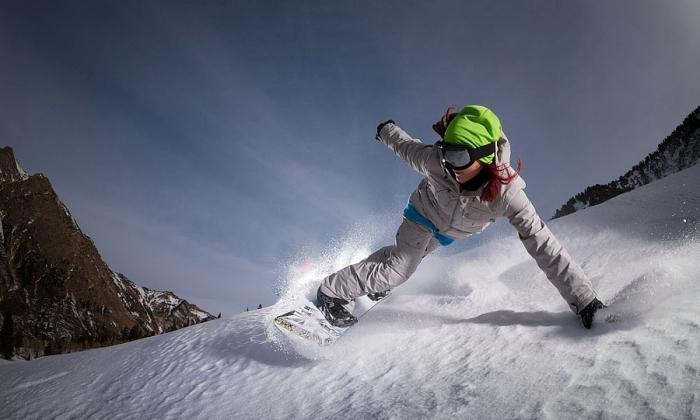 Сноубординг с Еленой Хайт. Автор фото: Kevin Winzeler.