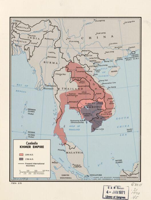 Кхмерская империя (карта). \ Фото: commons.wikimedia.org.