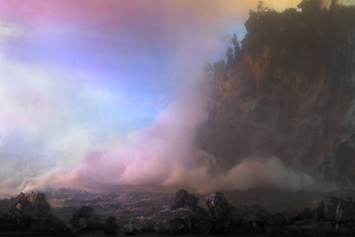 Розовый туман. Автор: Kim Keever.