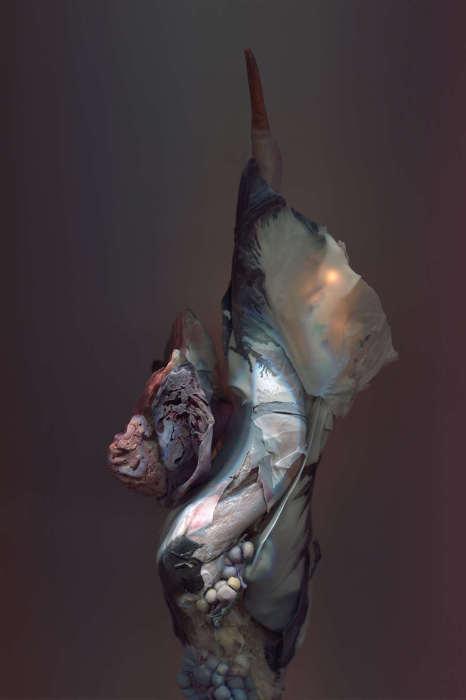 Причудливые формы.  Автор работ: Ким Кей (Kim Kei).