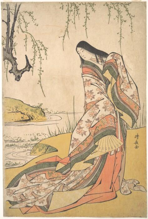 Кандзе: Придворная дама, Тории Киёнага, ок. 1790 года. \ Фото: wordpress.com.