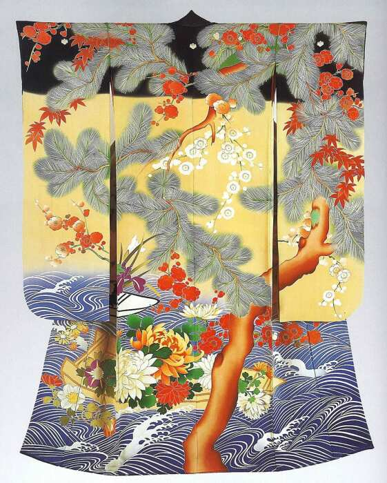 Кимоно для молодой женщины (Фурисодэ ), 1912-1926 гг. \ Фото: google.com.