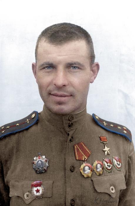 Герой Советского Союза Федоров Аркадий Васильевич, 1944 год. Автор: Ольга Ширнина.