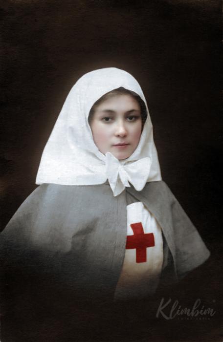Сестра милосердия Мария, 1914 год. Автор: Ольга Ширнина.
