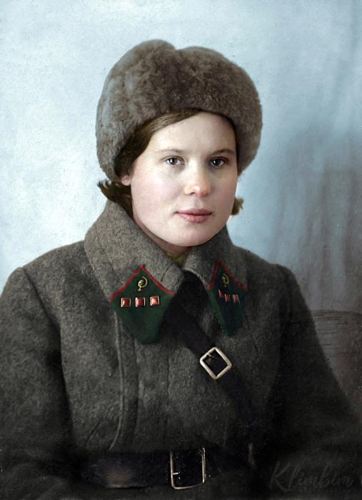 Соколова П.И. – военфельдшер 2-ой Московской стрелковой дивизии. Автор: Ольга Ширнина.