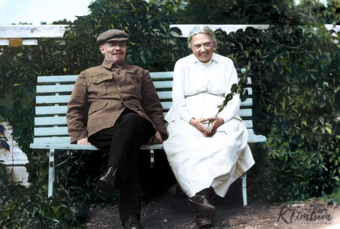 Ленин и Крупская, Горки, 1922 год. Автор: Ольга Ширнина.