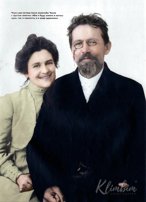 Чехов с женой. Автор: Ольга Ширнина.